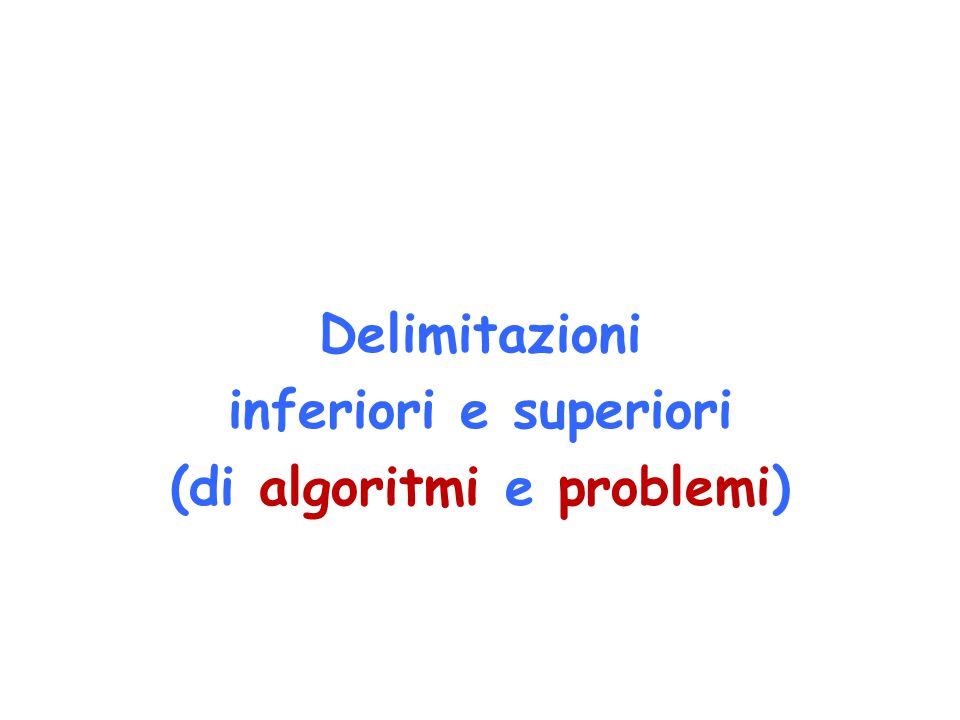 Delimitazioni inferiori e superiori (di algoritmi e problemi)