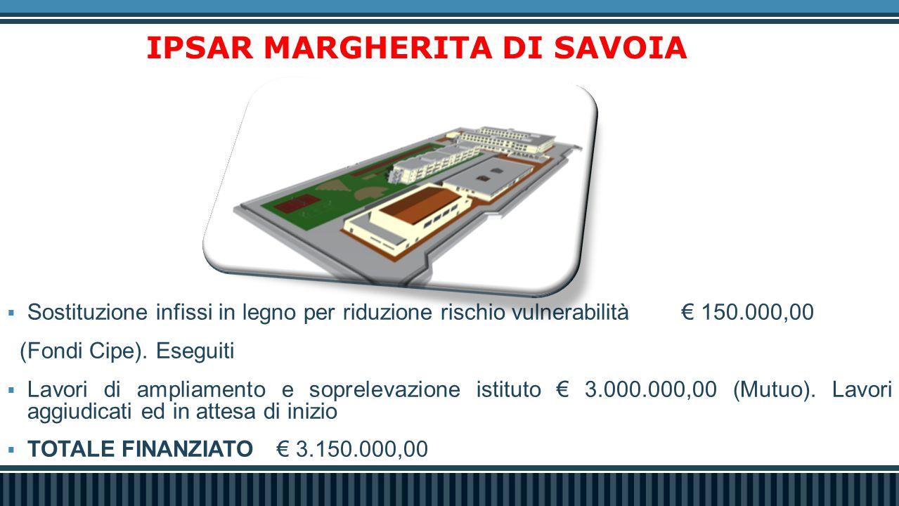 ISTRUZIONE  Gli Indirizzi Scolastici approvati dalla Regione Puglia dal 2010 ad oggi nelle scuole di Margherita di Savoia.