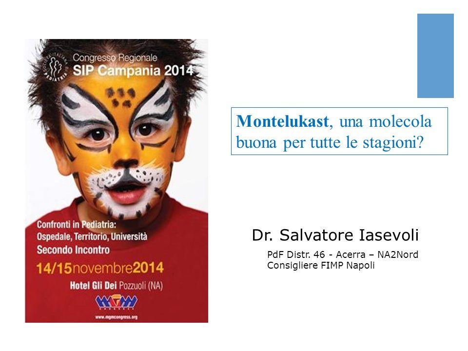 Montelukast, una molecola buona per tutte le stagioni? Dr. Salvatore Iasevoli PdF Distr. 46 - Acerra – NA2Nord Consigliere FIMP Napoli