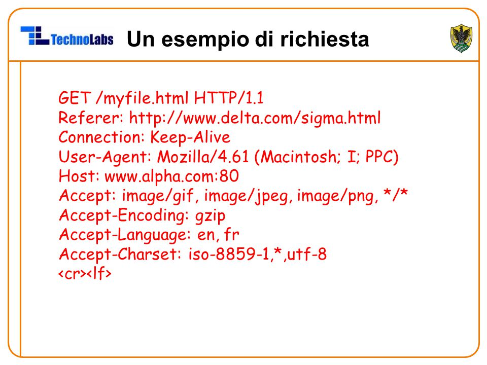 GET /myfile.html HTTP/1.1 Referer: http://www.delta.com/sigma.html Connection: Keep-Alive User-Agent: Mozilla/4.61 (Macintosh; I; PPC) Host: www.alpha