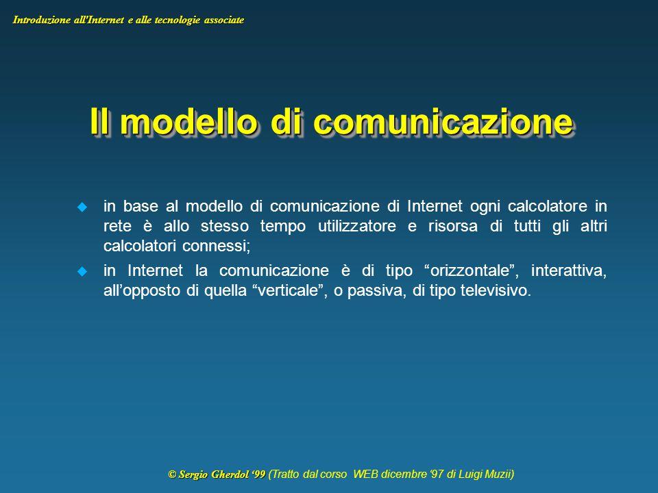 © Sergio Gherdol '99 © Sergio Gherdol '99 (Tratto dal corso WEB dicembre '97 di Luigi Muzii) Introduzione all Internet e alle tecnologie associate World Wide Web Il World Wide Web (Web) è una rete di risorse di informazioni.