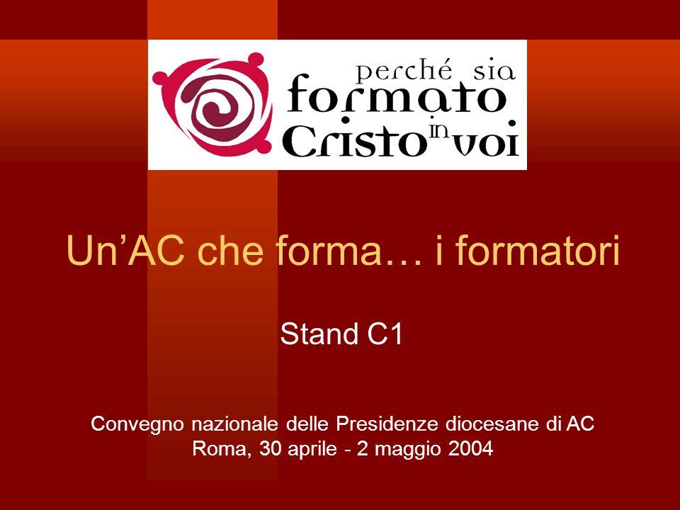 Un'AC che forma… i formatori Stand C1 Convegno nazionale delle Presidenze diocesane di AC Roma, 30 aprile - 2 maggio 2004