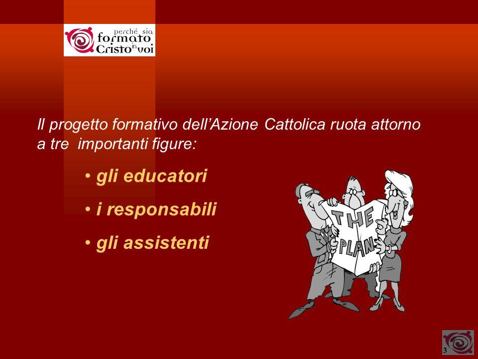 3 Il progetto formativo dell'Azione Cattolica ruota attorno a tre importanti figure: gli educatori i responsabili gli assistenti