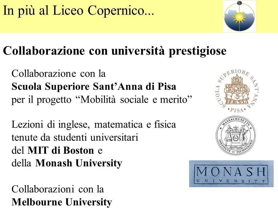 """Collaborazione con la Scuola Superiore Sant'Anna di Pisa per il progetto """"Mobilità sociale e merito"""" Lezioni di inglese, matematica e fisica tenute da"""