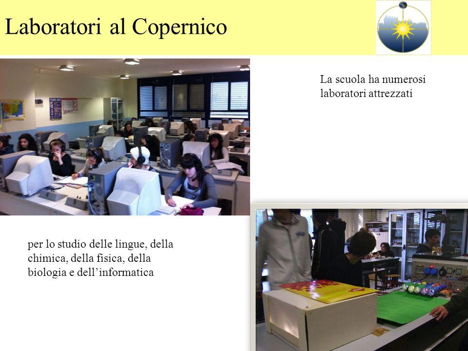 La scuola ha numerosi laboratori attrezzati per lo studio delle lingue, della chimica, della fisica, della biologia e dell'informatica Laboratori al C