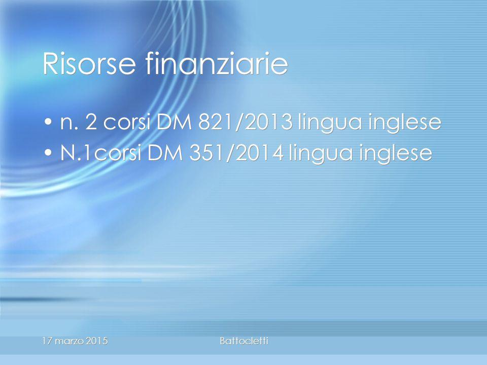17 marzo 2015Battocletti Risorse finanziarie n.
