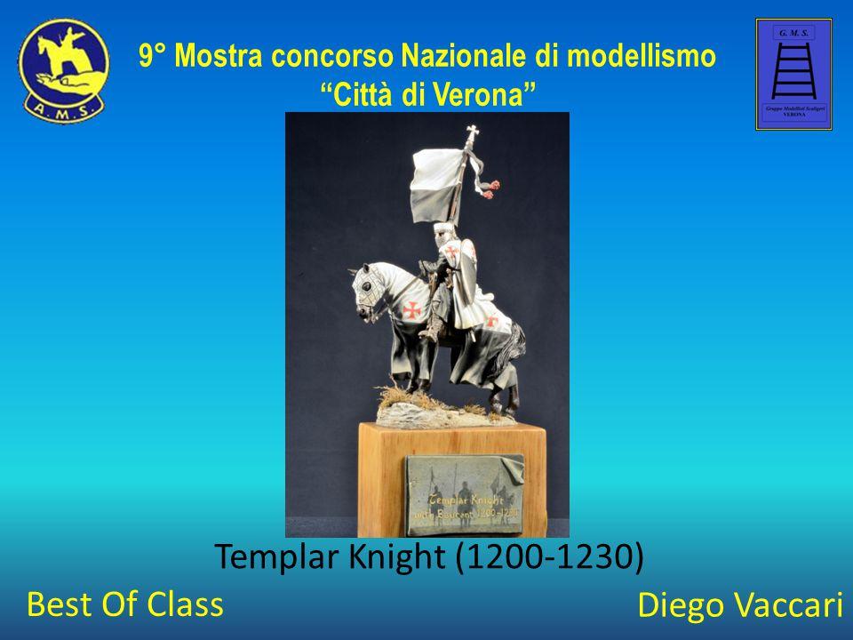 """Diego Vaccari Templar Knight (1200-1230) 9° Mostra concorso Nazionale di modellismo """"Città di Verona"""" Best Of Class"""