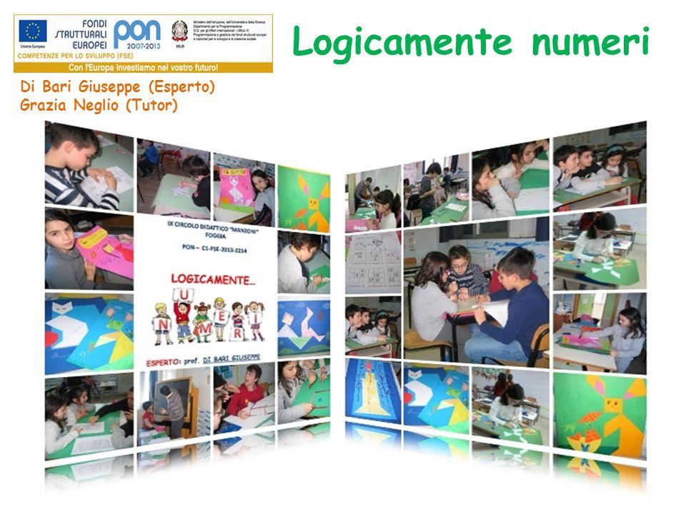 Logicamente numeri Di Bari Giuseppe (Esperto) Grazia Neglio (Tutor)