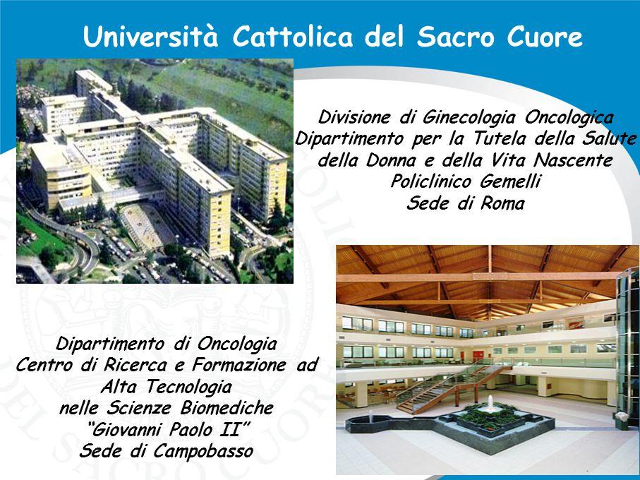 """Dipartimento di Oncologia Centro di Ricerca e Formazione ad Alta Tecnologia nelle Scienze Biomediche """"Giovanni Paolo II"""" Sede di Campobasso Università"""