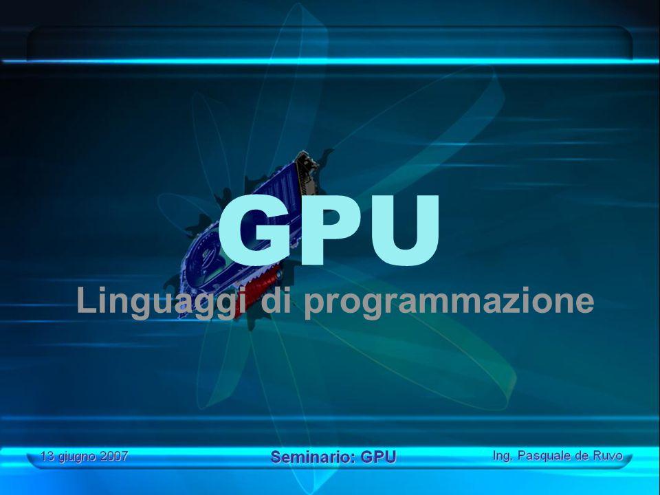 GPU Linguaggi di programmazione