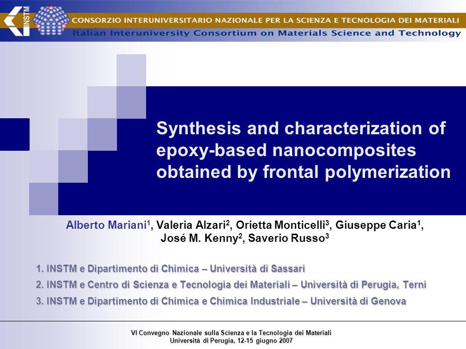 The domino effect VI Convegno Nazionale sulla Scienza e la Tecnologia dei Materiali Università di Perugia, 12-15 giugno 2007