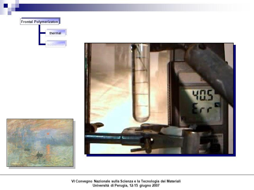 polyurethane – fumed silica nanocomposites consolidation of porous materials (stone, wood, paper) polyacrylates – POSS nanocomposites Polymeric composite materials previously obtained by us via FP polyacrylate – organic liquid crystal composites VI Convegno Nazionale sulla Scienza e la Tecnologia dei Materiali Università di Perugia, 12-15 giugno 2007