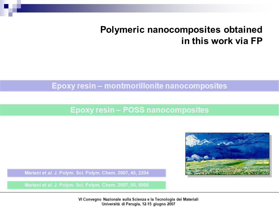 Epoxy resin – POSS nanocomposites Mariani et al.J.