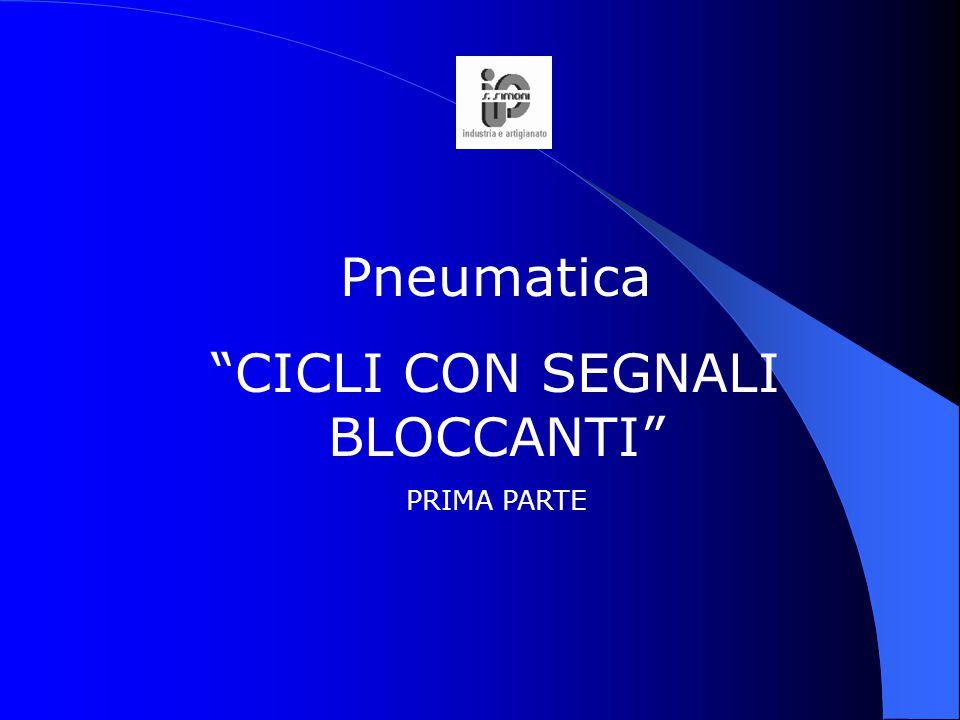 """Pneumatica """"CICLI CON SEGNALI BLOCCANTI"""" PRIMA PARTE"""