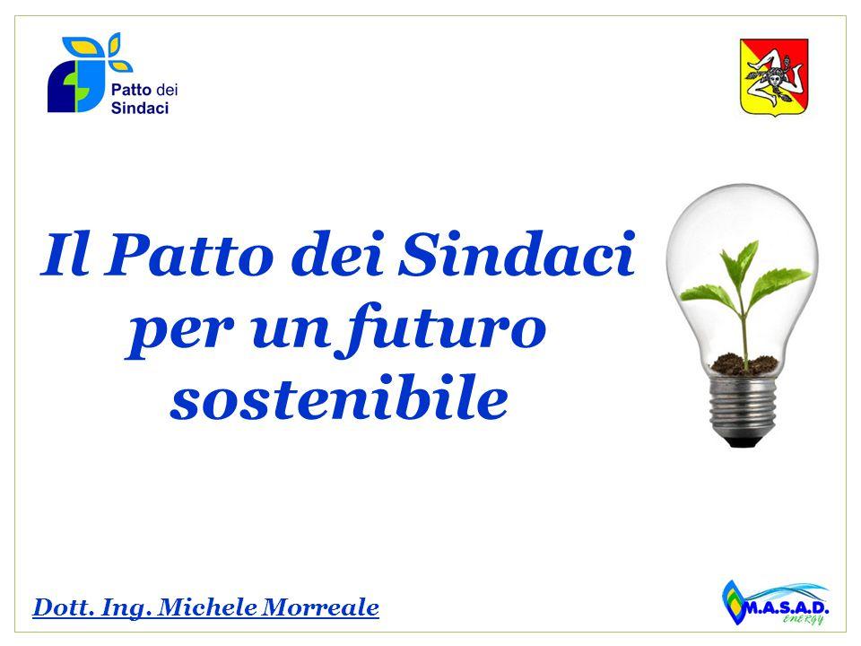 Il Patto dei Sindaci per un futuro sostenibile Dott. Ing. Michele Morreale