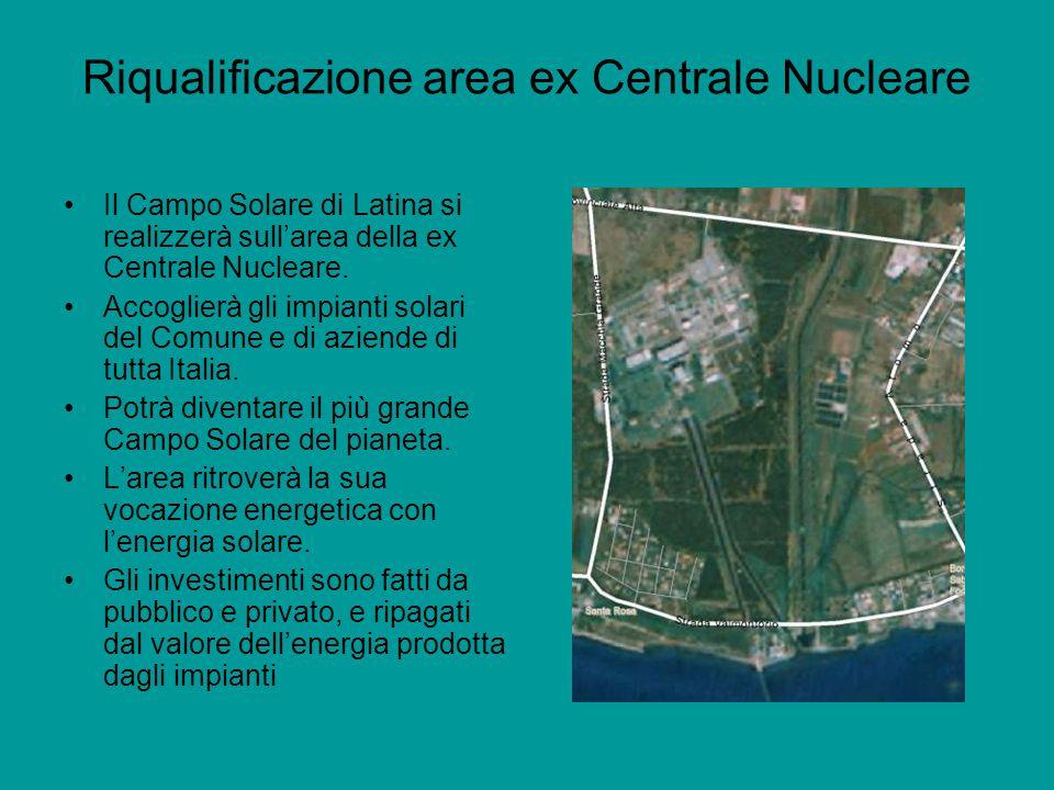 Riqualificazione area ex Centrale Nucleare Il Campo Solare di Latina si realizzerà sull'area della ex Centrale Nucleare.