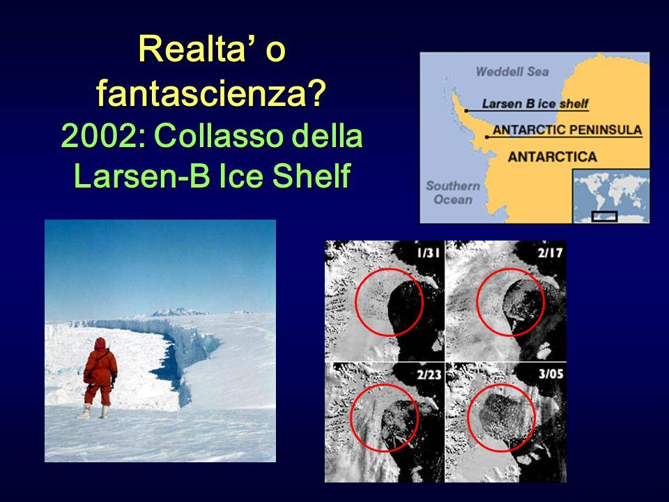 Identificazione dell'effetto umano sul riscaldamento globale All Forcings Natural Forcings Il contributo umano al forcing radiativo dal 1750 e' molto maggiore di quello naturale