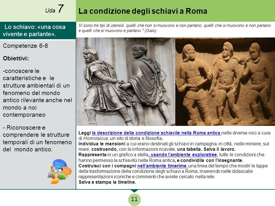 La condizione degli schiavi a Roma Leggi la descrizione della condizione schiavile nella Roma antica nelle diverse voci a cura di Homolaicus, un sito