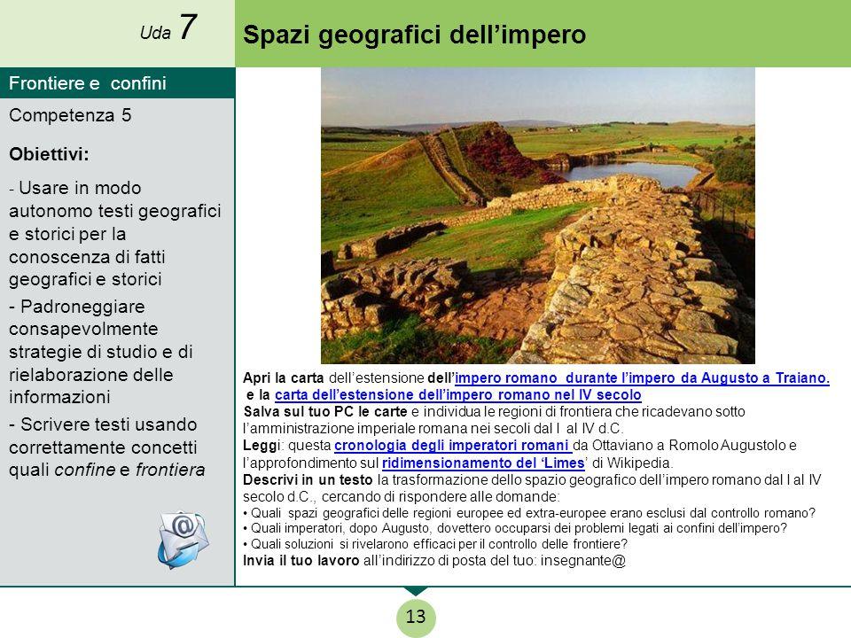 Competenza 5 Obiettivi: - Usare in modo autonomo testi geografici e storici per la conoscenza di fatti geografici e storici - Padroneggiare consapevol