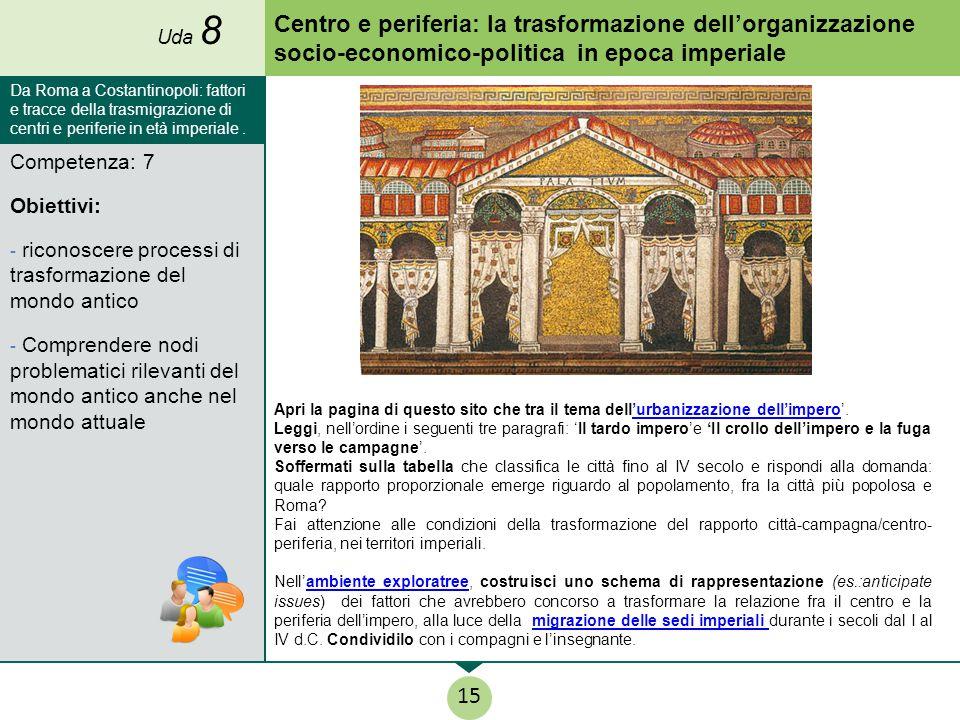 Competenza: 7 Obiettivi: - riconoscere processi di trasformazione del mondo antico - Comprendere nodi problematici rilevanti del mondo antico anche ne