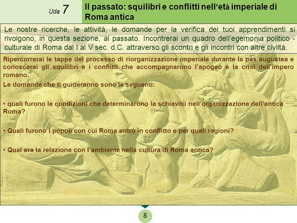 Il passato: squilibri e conflitti nell ' et à imperiale di Roma antica Ripercorrerai le tappe del processo di riorganizzazione imperiale durante la pa