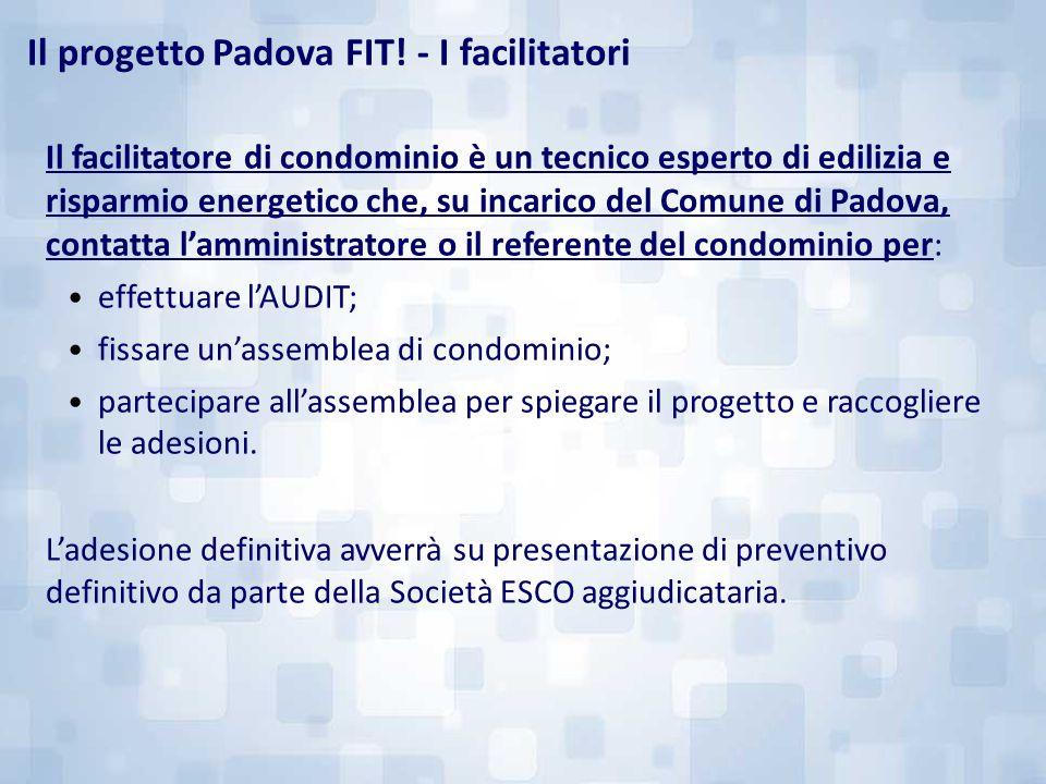 Il facilitatore di condominio è un tecnico esperto di edilizia e risparmio energetico che, su incarico del Comune di Padova, contatta l'amministratore