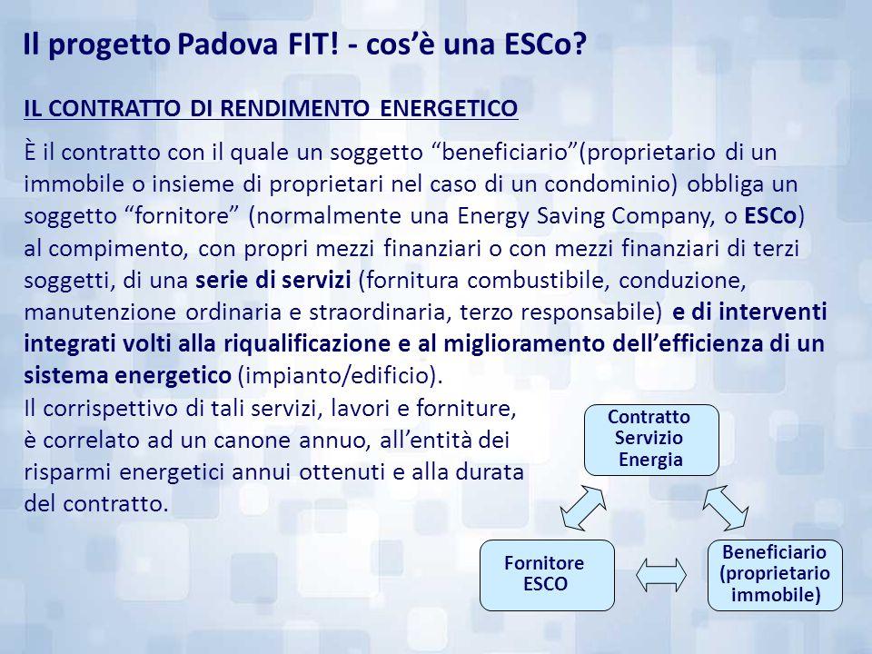 """IL CONTRATTO DI RENDIMENTO ENERGETICO È il contratto con il quale un soggetto """"beneficiario""""(proprietario di un immobile o insieme di proprietari nel"""