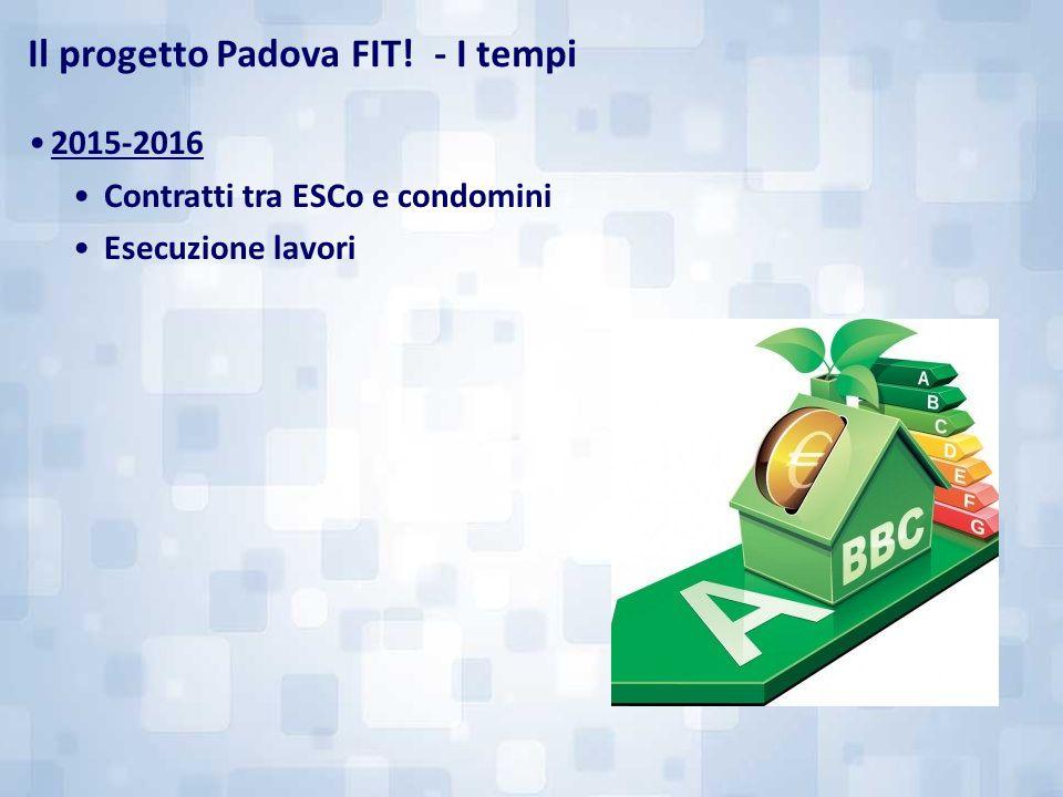 2015-2016 Contratti tra ESCo e condomini Esecuzione lavori Il progetto Padova FIT! - I tempi