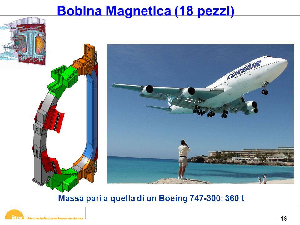 19 Bobina Magnetica (18 pezzi) Massa pari a quella di un Boeing 747-300: 360 t