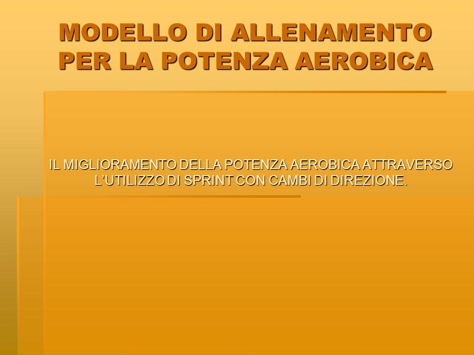 MODELLO DI ALLENAMENTO PER LA POTENZA AEROBICA A.