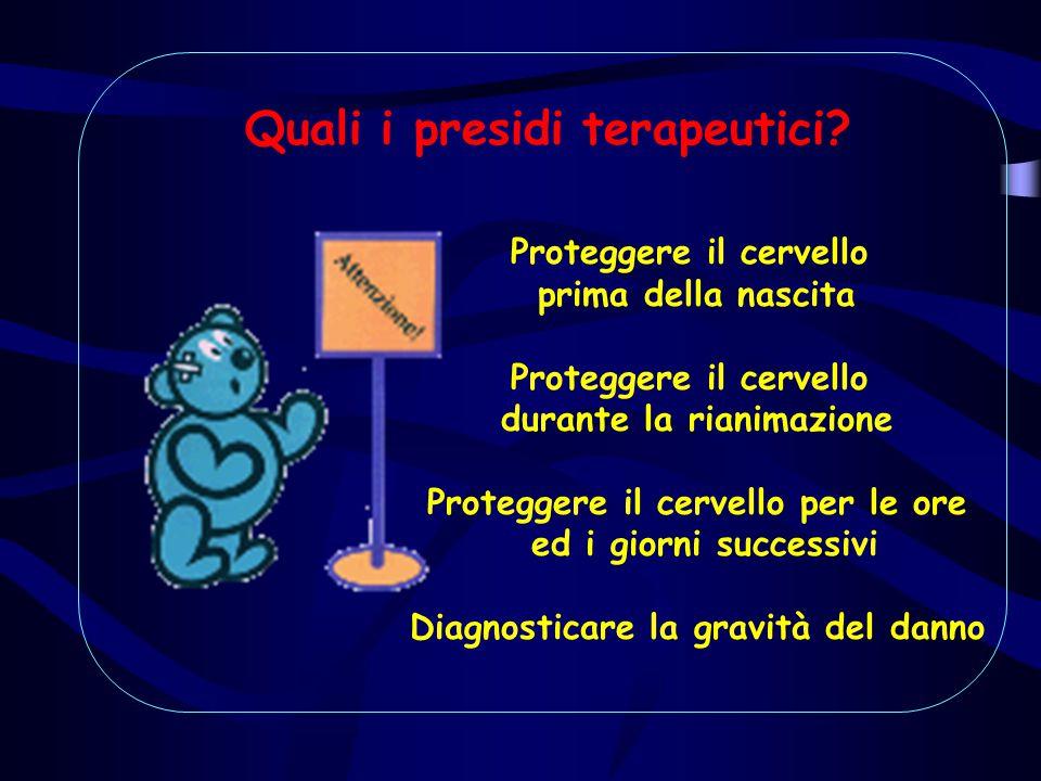 Proteggere il cervello prima della nascita Proteggere il cervello durante la rianimazione Proteggere il cervello per le ore ed i giorni successivi Dia