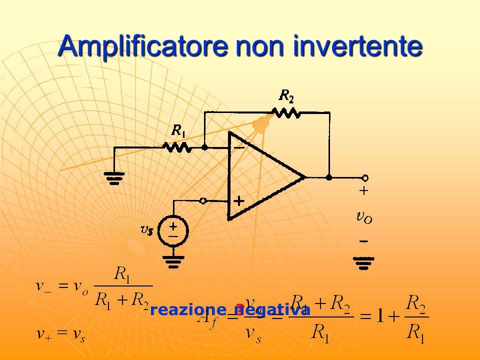 Amplificatore non invertente reazione ? negativa v + = v s s
