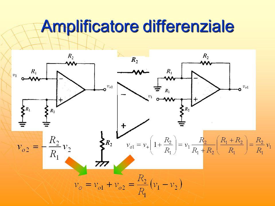 Amplificatore differenziale R1R1 R1R1 R2R2 R2R2 R1R1 R2R2 v2v2 vo2vo2 R1R1 R2R2 v1v1 vo1vo1