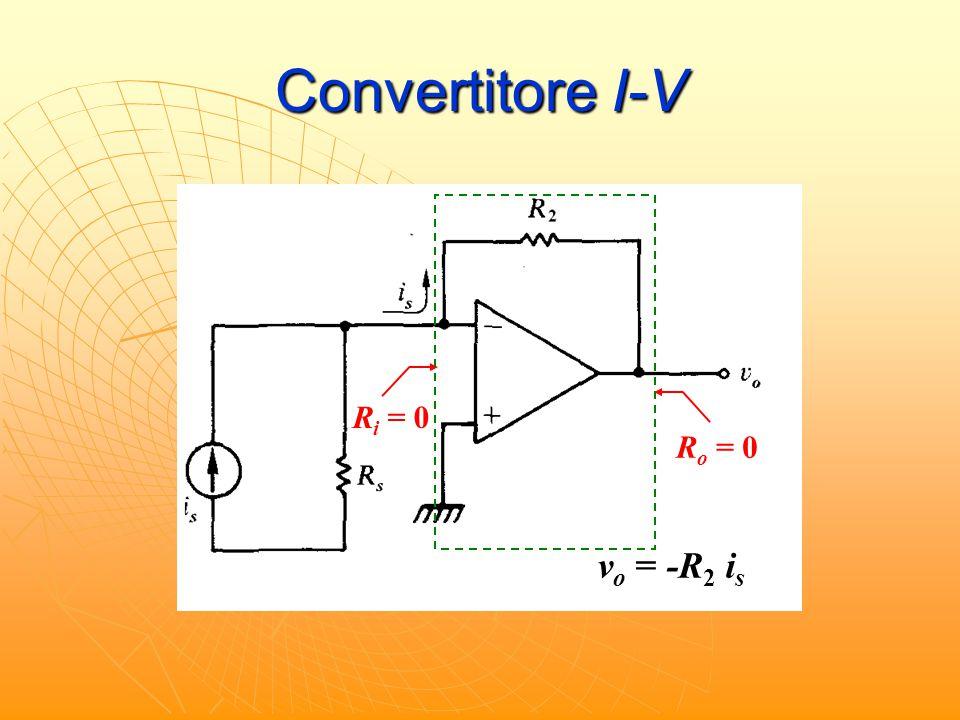 Convertitore I-V R i = 0 R o = 0 v o = -R 2 i s