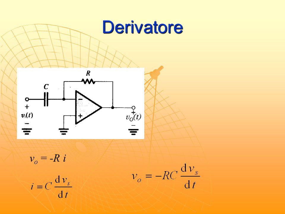 Derivatore s s v o = -R i