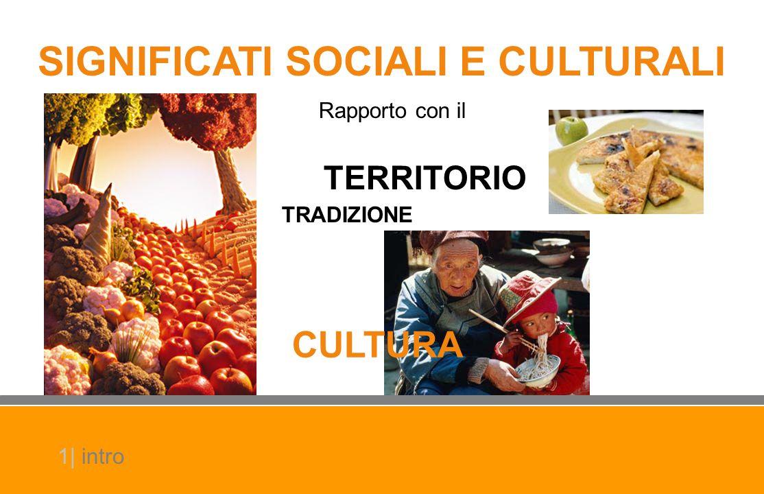 SIGNIFICATI SOCIALI E CULTURALI Rapporto con il TERRITORIO TRADIZIONE CULTURA 1| intro