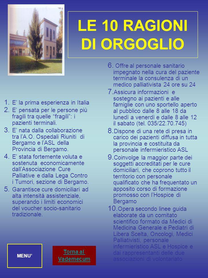 La Centrale Operativa Cure Palliative e Domiciliarità ha sede in via Borgo Palazzo 130, all'ingresso n.16 E (sotto l'Hospice) Orari di apertura al pub