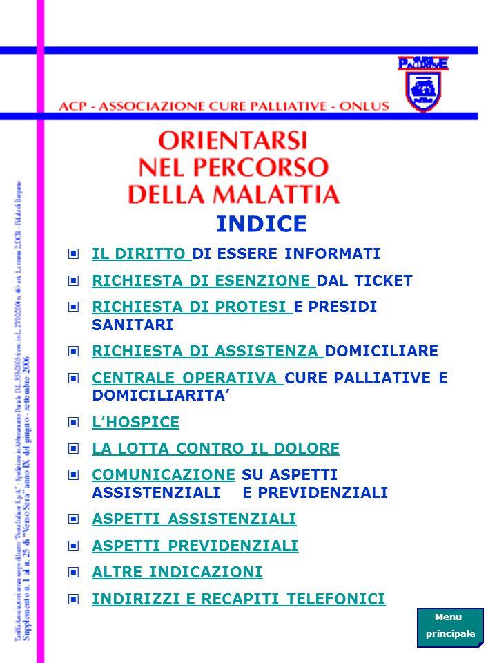 La Centrale Operativa Cure Palliative e Domiciliarità ha sede in via Borgo Palazzo 130, all ingresso n.16 E (sotto l'Hospice) Orari di apertura al pubblico: da lunedi a venerdi dalle 8.00 alle 18.00 sabato dalle 8.00 alle 12.00 Tel.