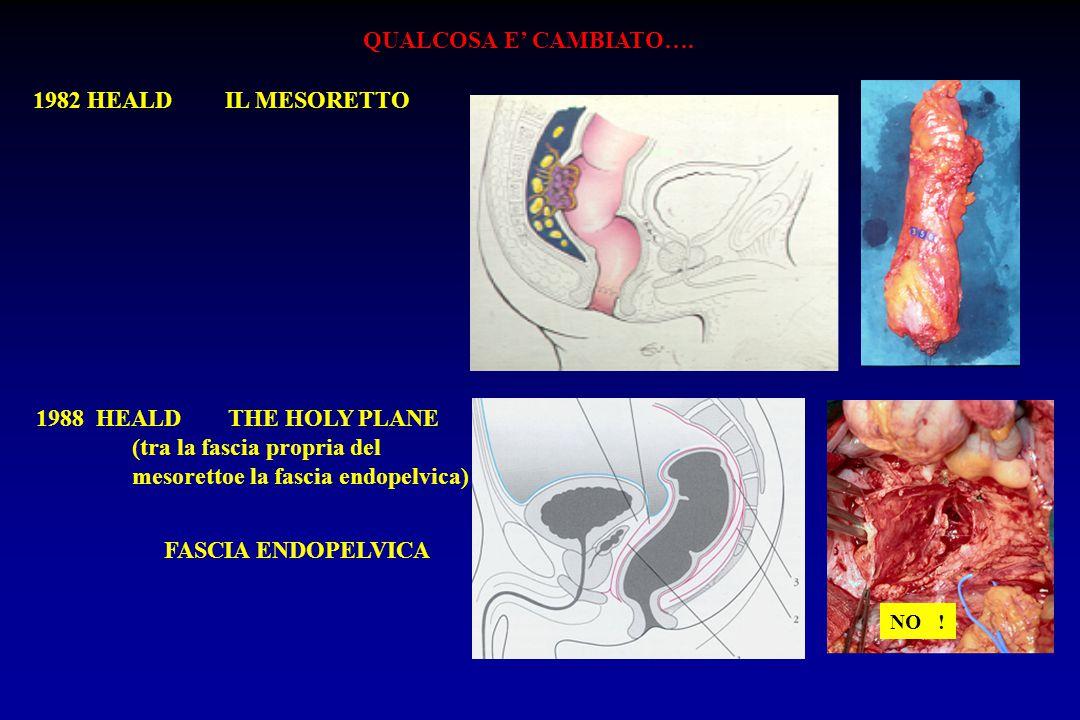 Resezione anteriore del retto RISULTATI CLINICI (93/437 casi) (15paz) (19paz)(40 paz)(19paz) H.