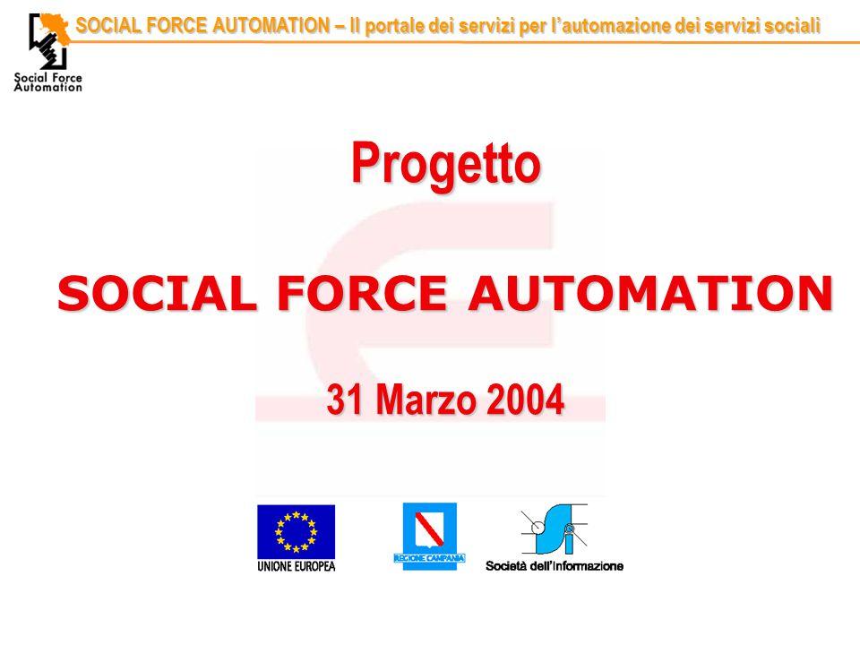 Codice identificativoRelatore SOCIAL FORCE AUTOMATION – Il portale dei servizi per l'automazione dei servizi sociali Progetto SOCIAL FORCE AUTOMATION 31 Marzo 2004
