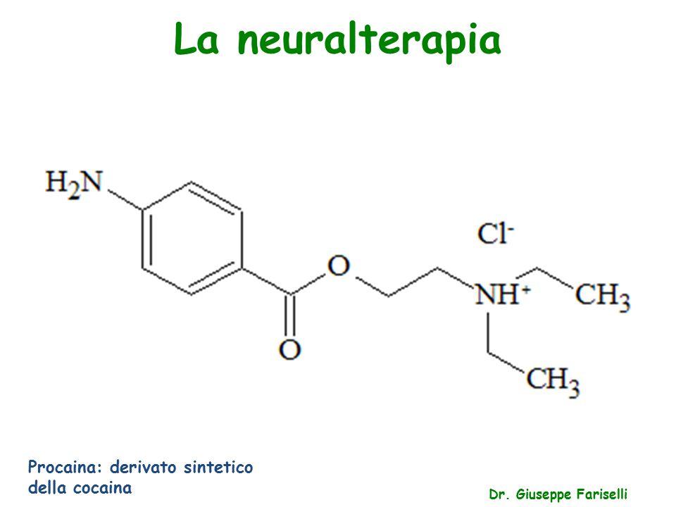 La neuralterapia Dr. Giuseppe Fariselli Procaina: derivato sintetico della cocaina