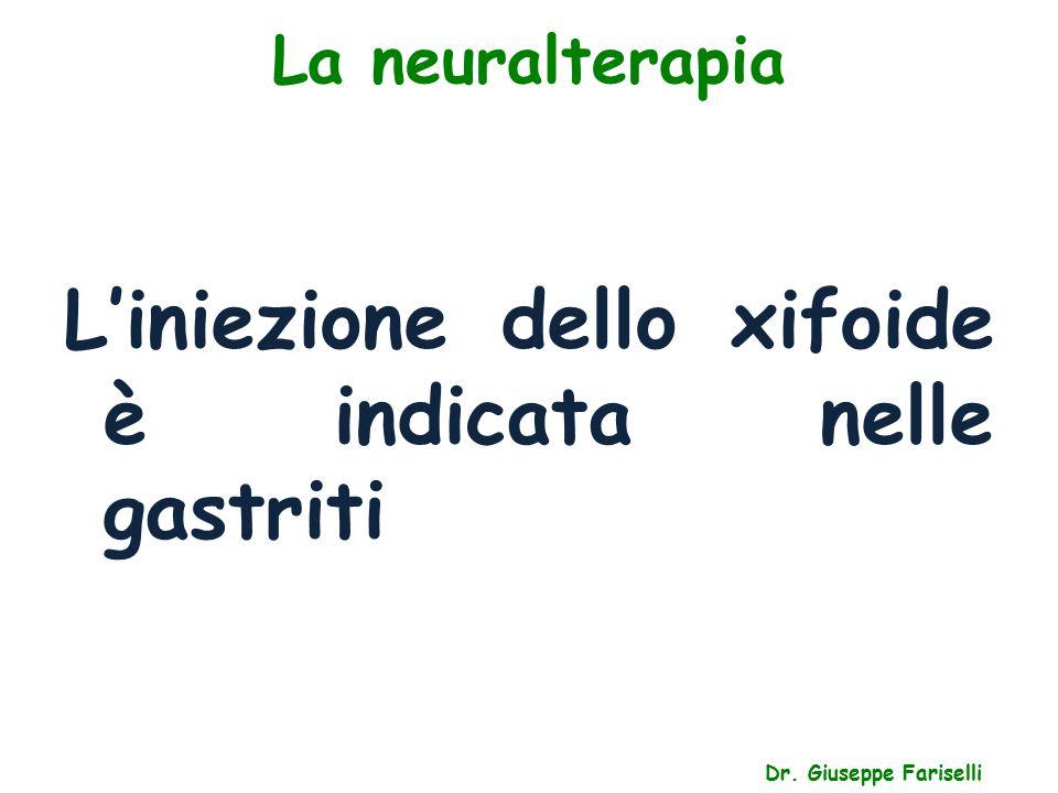 La neuralterapia Dr. Giuseppe Fariselli L'iniezione dello xifoide è indicata nelle gastriti