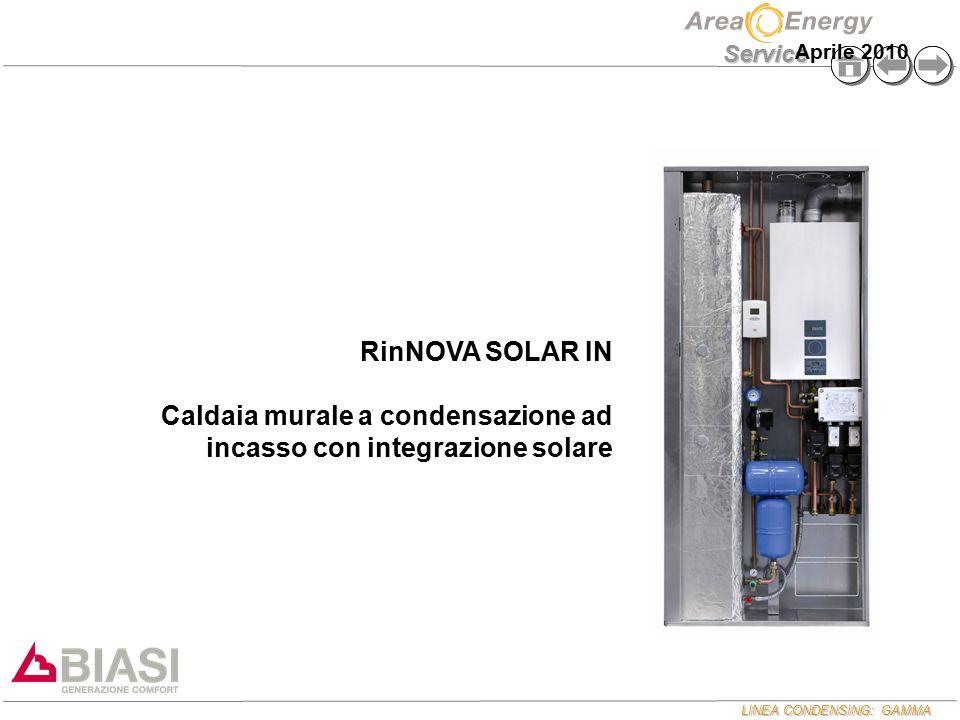 LINEA CONDENSING: GAMMA Service RinNOVA SOLAR IN Caldaia murale a condensazione ad incasso con integrazione solare Aprile 2010