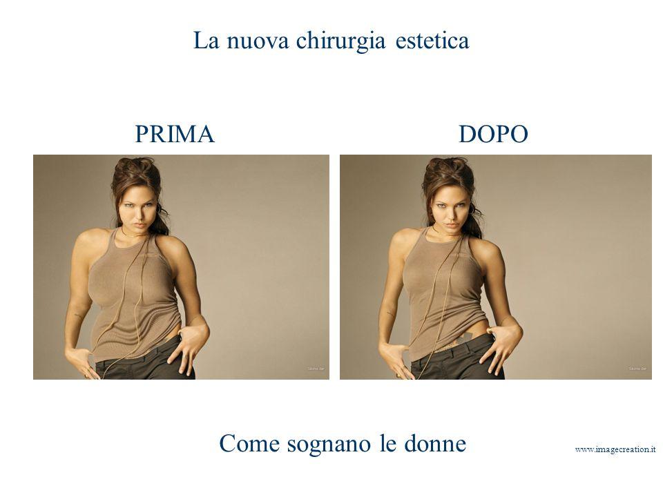 La nuova chirurgia estetica PRIMADOPO Come sognano le donne www.imagecreation.it