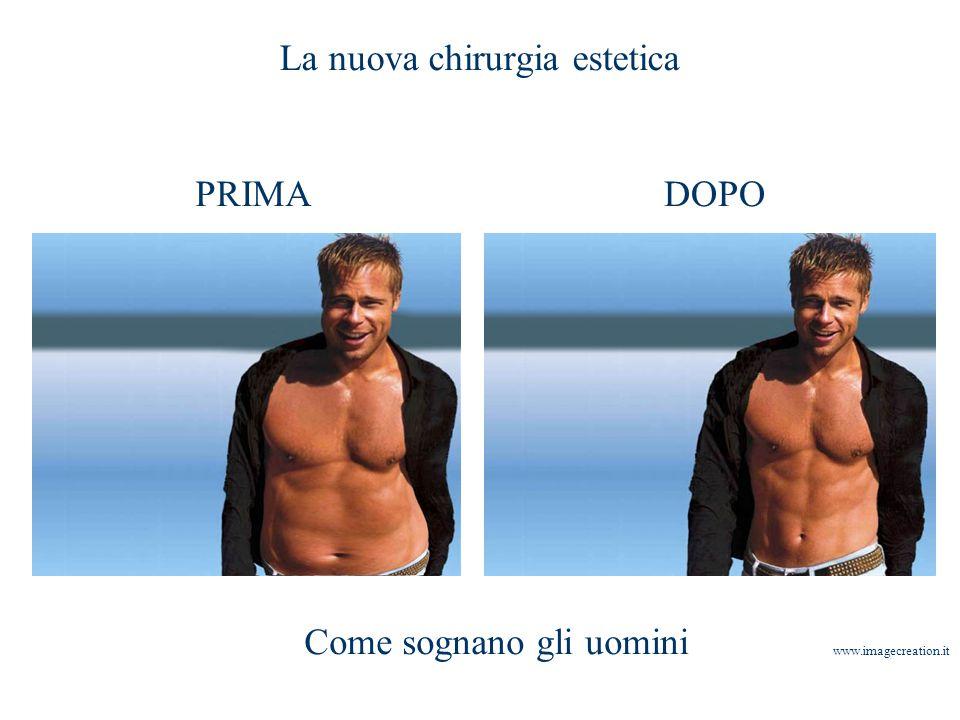 La nuova chirurgia estetica PRIMADOPO Come sognano gli uomini www.imagecreation.it