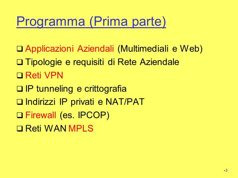 -94 Discussione su NAT  NAT altera il principio di comunicazione End- to-End Principle perchè modifica i pacchetti.