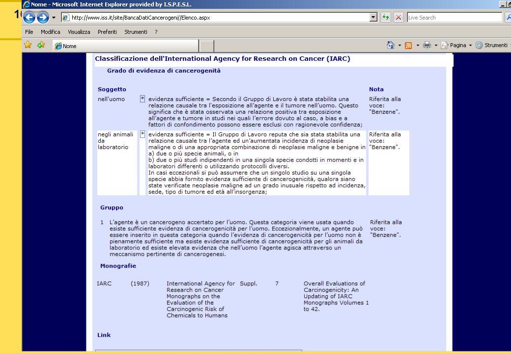 102 Banca dati cancerogeni ISS