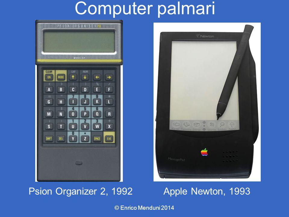 Computer palmari Apple Newton, 1993 © Enrico Menduni 2014 Psion Organizer 2, 1992