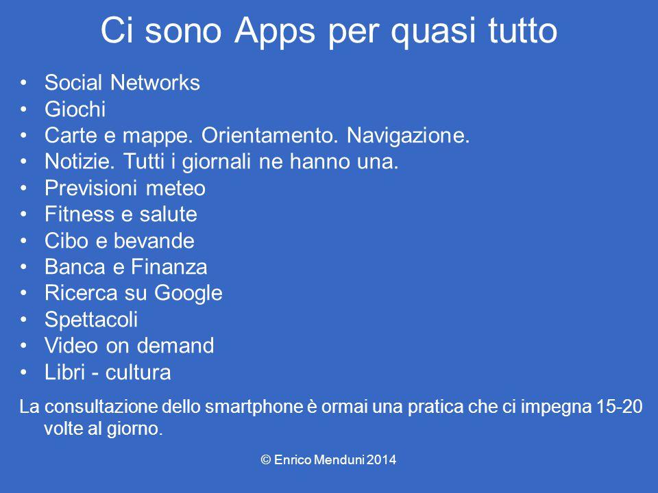 Ci sono Apps per quasi tutto Social Networks Giochi Carte e mappe. Orientamento. Navigazione. Notizie. Tutti i giornali ne hanno una. Previsioni meteo