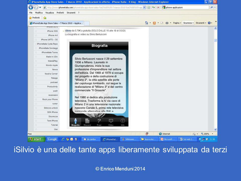 iSilvio è una delle tante apps liberamente sviluppata da terzi © Enrico Menduni 2014